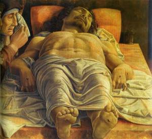 The dead Christ- Mantegna