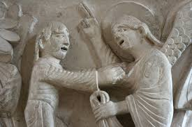 Yaakov wrestling from Sainte Madeleine, Vezelay, France