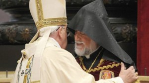 Pope Francis with Armenian church leader