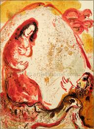 Marc Chagall thought Rahel was actually on a camel, hiding the gods