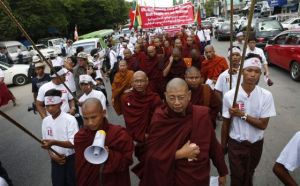 Burmese protest denies ethnic cleansing