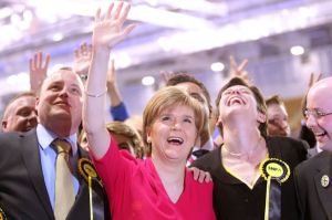 Nicola Sturgeon in victory
