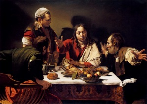 Jesus is seen at Emmaus Caravaggio