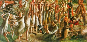 Stanley Spencer, the resurrection at Cookham