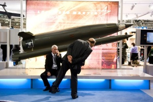Greet one another with a holy missile - international arms fair.