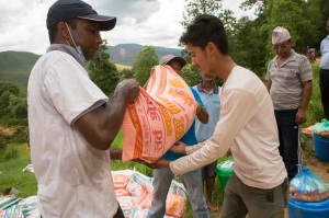 Caritas works in Nepal after the earthquake