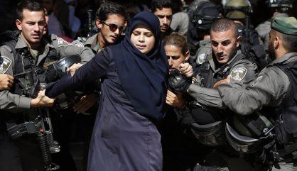 security forces arrest Palestinian woman