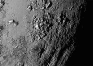 Pluto reflecting the light of the sun