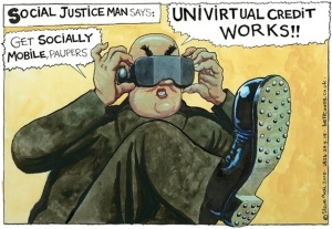 British Government Benefit Policy by Steve Bell