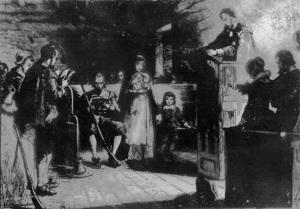 Puritan worship in New England
