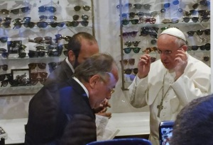 Pope says he doesn't need new frames just new lenses. Motto for the church?