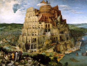 The Tower of Babel - a model for this passage