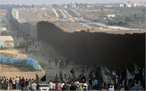 The wall in Gaza