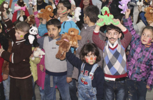 SYRIAN ORPHAN CHILDREN IN CAMP