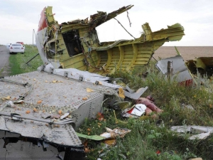 wreckage of passenger jet