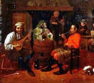 jesus-tavern-interior-with-mandolin-player