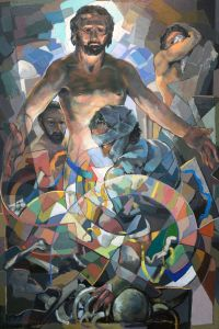 The Raising of Lazarus - Oil on panel - 6'x4' - 2009 -